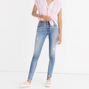 """Madewell Tall 9"""" high rise skinny jeans"""